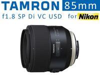 Tamron 85mm f1.8 SP Di VC USD Portrait Lens for Nikon