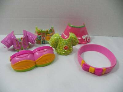 ~Fisher Price~ Snap n' Style Dolls Pink Headband, Shoes, Outfits Set