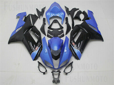 Blue Black Injection Body Kit Fairing Fit for 2007 2008 Ninja ZX-6R 636 Mold ABS