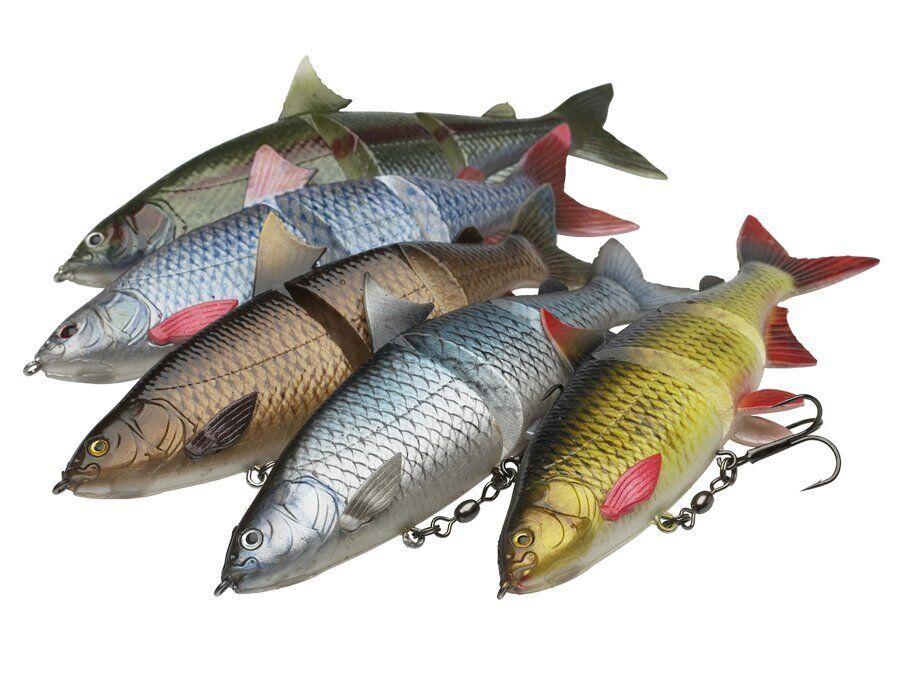 DAM Effzett Natural whitefish firetiger 18cm 67g med sinking pike swimbait lure