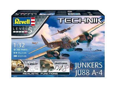 REVELL TECHNIK 00452 - 1/32 JUNKERS JU-88 A-4 - MIT LICHT UND MOTOREN FUNKTION