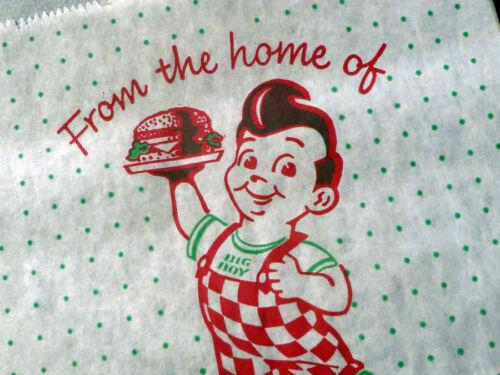 lot of 50 ~ RARE & vintage Bobs BIGBOY wax HAMBURGER sandwich BAG ~ UNUSED NOS