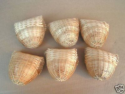 Lot of 6 Canary Birds Nests # 8222-666