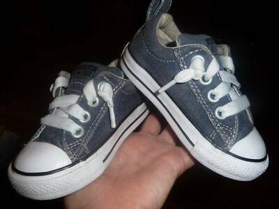 CONVERSE CHUCK TAYLOR ALL STAR Blue Infant Toddler Boy's Shoes Sneakers Sz 6