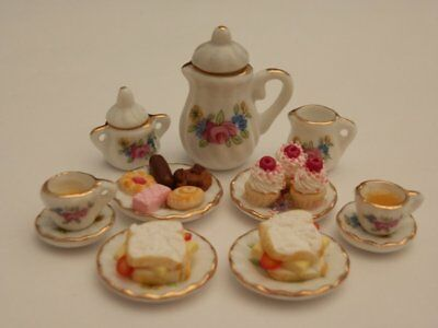 Dolls house food: Afternoon tea  for two   -By Fran