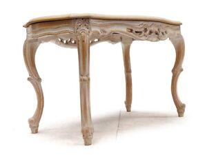 tisch in barocker manier shabby chic geschnitzt. Black Bedroom Furniture Sets. Home Design Ideas