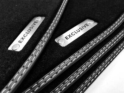 Exclusive Fußmatten Mercedes CLK W208 COUPE Original Qualität Velours Metal Logo