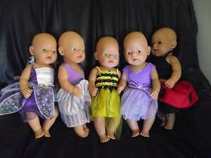 5 baby born dolls - new dress - good condition Oakford Serpentine Area Preview