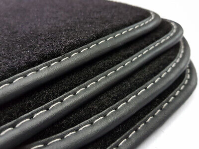 Kofferraummatte +Fußmatten für Mercedes-Benz S-Klasse W220 Schwarz Velours