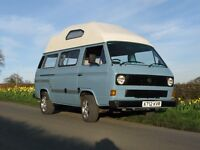 "Beautiful VW T25 / T3 Campervan. ""Leisuredrive"" conversion. 1.9 water cooled petrol with full MoT"