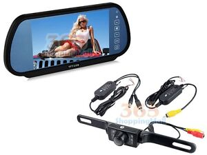 Wireless Car Reverse Rear View Backup Camera Night Vision + Digital LCD Monitor