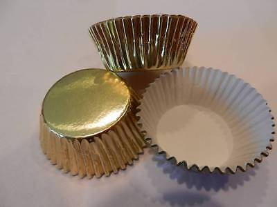 Mini Cupcake Liners (48 Mini Gold Foil Cupcake Liners Baking Cups Truffle Candy Party)