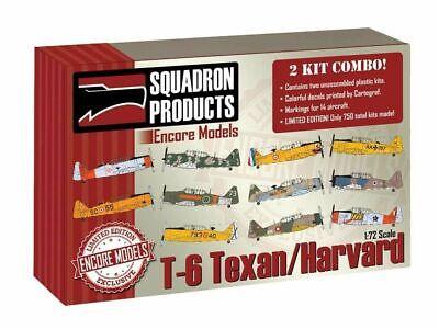 Encore Models 72105 T-6 Texan/Harvard 2 Kit Combo 1/72 Scale Aircraft Model Kit