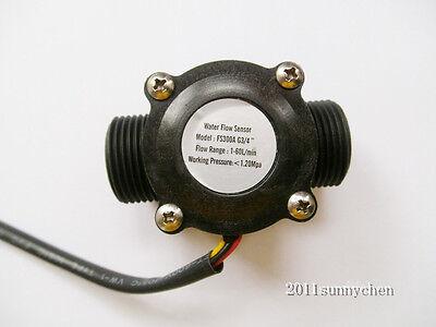 New G34 Water Flow Hall Sensor Switch Flow Meter Flowmeter Counter 1-60lmin