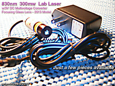 Laser 830nm 350mw Ir Ac 3v Dc For Lab Or Night Vision Use- Powerful Compact