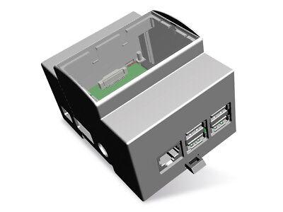 Hutschienen-Gehäuse für Raspberry Pi Model B+, 4TE
