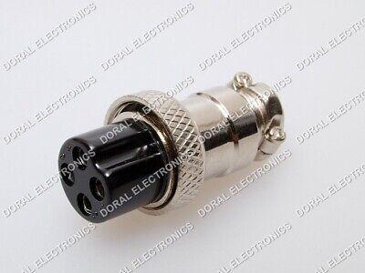 5 Pcs 4 Pin Ham Cb Radio Mic Microphone Connector Female Plug Solder Type