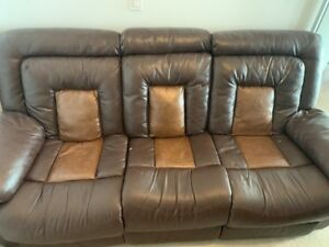 Recliner Leather Couch