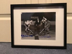 Milt Schmidt & Ted Kennedy dual Signed and framed photo
