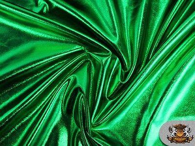 Spandex Metallic EMERALD GREEN Fabric /60