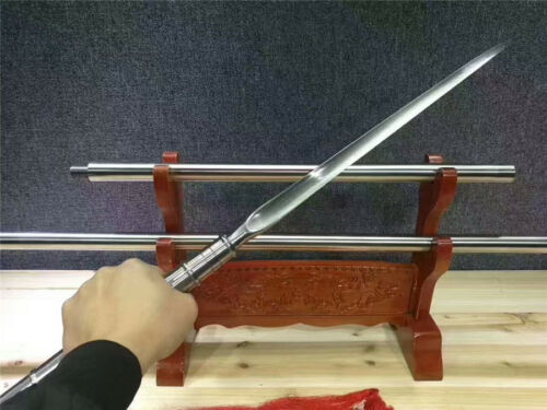 Hunting Spear Dagger Bayonet Sword Sharp Damascus Steel Spearhead Long Handle