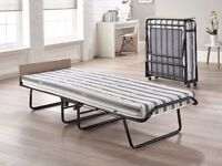 Single fold up bed - Jay-be - excellent condition - also comes with dust cover
