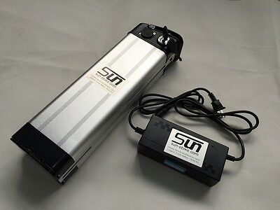 48V 12AH Li-ion Battery Aluminum Case 3A Charger BMS Rechargeable Electric Bike