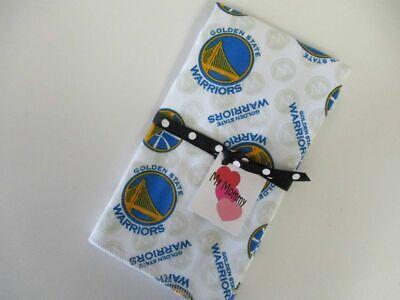 Boy or Girl Cotton Burp Cloth Made With Golden State Warriors NBA 100% Cotton (Warrior Girl Clothing)