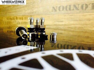 4x PKW Ventil Metallventil metal valve OZ BBS  8,3 mm 26 mm SW11 mm NEU!!!