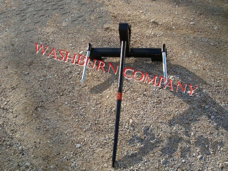 """Hay Bale Mover Front Mount Bucket Bale 1 Spear, 39"""" Long"""