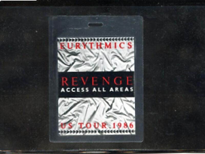 Eurythmics - Revenge U.S. Tour 1986 - laminate access all areas tour pass