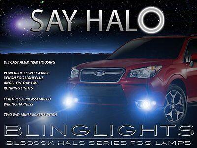 White Halo Fog Lamps Driving Light Kit for 2014 2015 2016 Subaru Forester