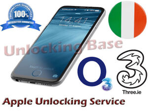THREE 3 / O2 IRELAND UNLOCK SERVICE FOR IPHONE 6 6 PLUS 5S 4S 4 XPRESS SEVICE