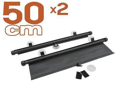 2 x auto Tenda da sole 50 cm protezione solare Tendina Parasole avvolgibile