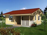 THREE ROOMED LOG HOUSE