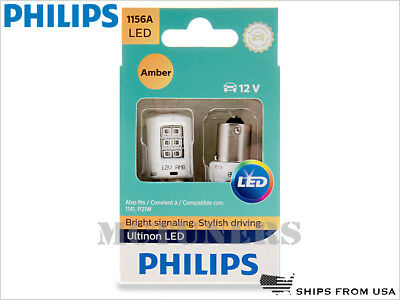 NEW! PHILIPS 1156A ULTINON LED AMBER BULBS 1156AULAX2 | PACK OF 2