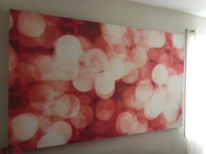 Abstract canvas picture 7x5 feet