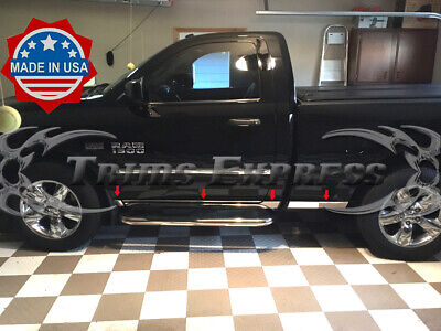 fit:09-2018 Dodge Ram Regular Cab 6.4' Short Bed Rocker Panel Trim Molding