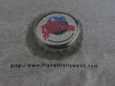 Vintage 2000 PLANET HOLLYWOOD Logo Nassau Bahamas SHIRT Adult Sz XL Gray image