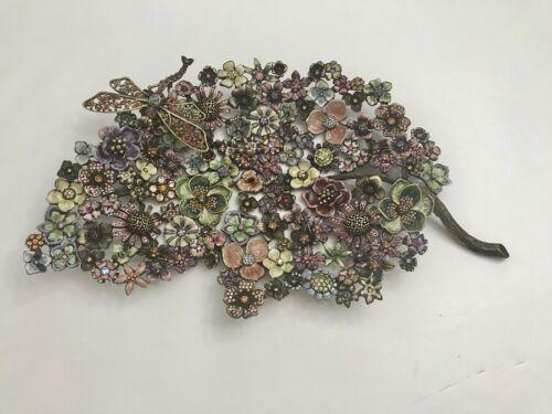 """JAY STRONGWATER """"Camille"""" Garden Leaf Objet  - Retail $1,750"""