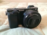 Sony A6000 - Excellent condition, 3 batteries