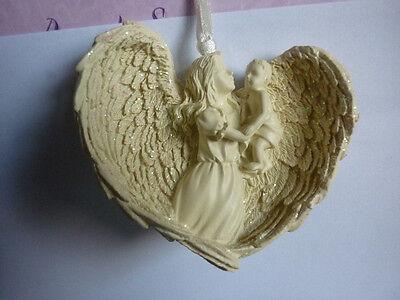ANGELO DA APPENDERE albero di Natale decorazioni casa CUORE amore meditazione