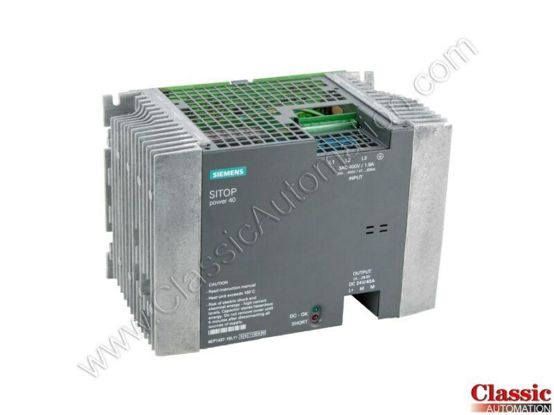Siemens   6EP1437-1SL11   Power Supply - SITOP Power 40 (Refurbished)