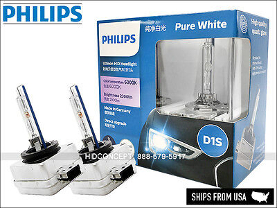 D1S PHILIPS 6000K Ultinon HID XENON Headlight Bulbs Made in Germany 85410WXX2
