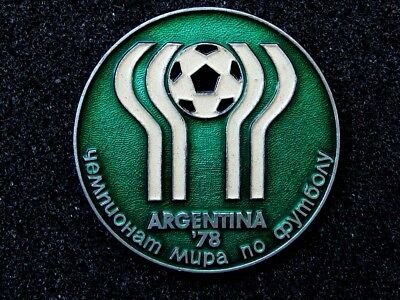 USSR Soviet Pin Badge FIFA World Cup 1978 Argentina Official Logo, Football.