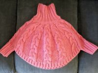 knitted girls poncho