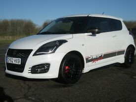 SUZUKI SWIFT SPORT 1.6, Newer Model, 3-Door, ONLY 45k, A/C, Nav. 10m MOT, Pearl White, SUPER EXAMPLE