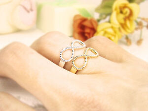 Letter Best Friend Engraved Friendship Infinity Ring Women Jewellery Gold Silver