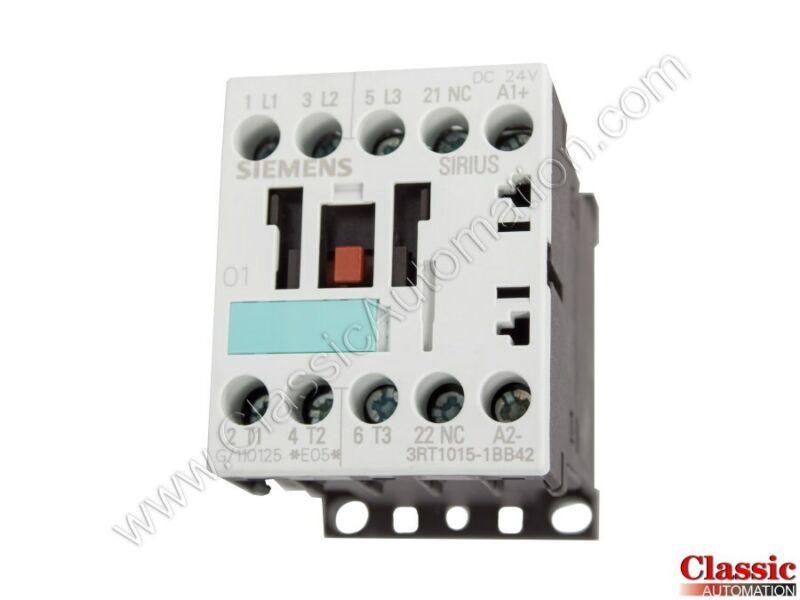 Siemens | 3RT1015-1BB42 | CONTACTOR NONREV S00 7A 24VDC 3P SCRW (Refurbished)