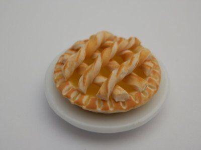 Dolls house food: Lemon curd lattice  tart   -By Fran (Lemon Curd Tart)